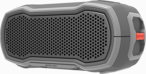 Braven Ready Solo Stereo Portable Speaker Grey,Orange - Altavoces portátiles (Wireless, Stereo Portable Speaker, Grey,Orange, Aluminium,Thermoplastic, IP68, Dust Resistant,Shock Resistant,Waterproof)