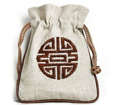 Etruke Bijoux Coton Bague Collier Pendentif Pochettes avec cordon de serrage Sac cadeau