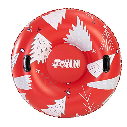 """JOYIN 47"""" Inflatable Snow Tube for Kids and Adults, Heavy-Duty Snow Tube for Sledding, Great..."""