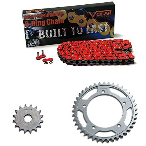 Volar O-Ring Chain and Sprocket Kit - Red for 2006-2010 Suzuki GSXR 600