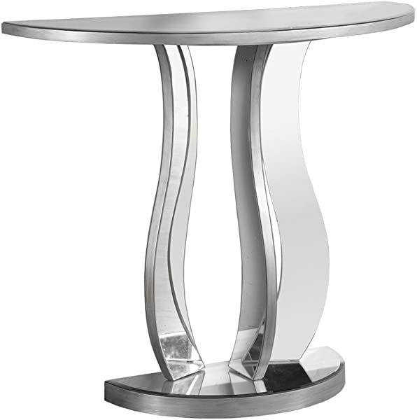 Monarch Specialties I I 3727 Accent Sofa Hall Console Table 32 5 H Brushed Pewter