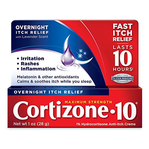 Cortizone 10 Maximum Strength Overnight Itch Relief 1 oz Lavender Scent 1 Percentage Hydrocortisone AntiItch Creme