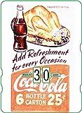 Calendario perpetuo vintage CocaCola 'Add Ref Thanks Giving'