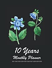 10 Years Monthly Planner 2021-2022-2023-2024-2025-2026-2027-2028-2029-2030: Logbook For to-do list, 120 months, Large 8.5 ...