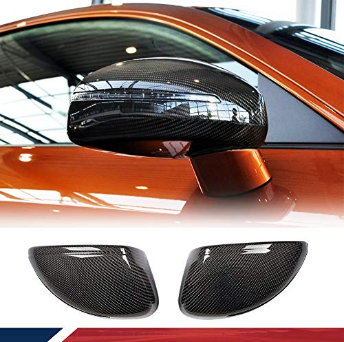 JC SPORTLINE Carbon Fiber Mirror Cover fits Audi TT TTS TTRS 2008-2014 R8 2007-2011 Side Door Mirror Cap Covers Replacement Style