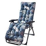 Busirde Outdoor Lounge Chair Feuilles de Coussin Imprimer Thicken Jardin Patio Chaise en rotin Fauteuil inclinable Coussin de siège