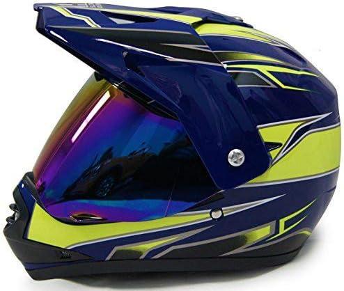 Blau Gr/ün Motorrad ATV Offroad Helm MTB Quad Fahrrad Unisex Volles Gesicht Absturz Helme DOT Zertifizierung mit Handschuhe Brille Maske OUTLL Erwachsene Jugend Kinder Motocross Helm