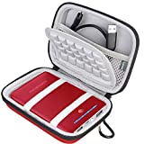 BOVKE Power Bank Carrying Case for RAVPower 16750mAh 13000mAh 13400mAh Portable External Charger Battery Power Bank EVA Shockproof Travel Storage Case Bag, Red