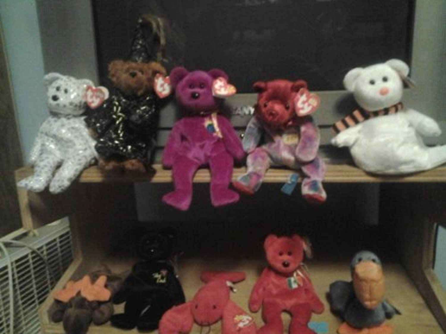Ty Beanie Baby Babies LOT of TEN (10) - All Different, with Tag Protectors  SAVE    on Shipping  by Ty