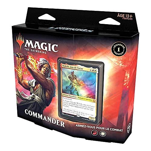 Magic The Gathering Commander Légendes : Armez-Vous pour Le Combat, Deck de 100 Cartes prêt-à-Jouer, 1 Commandant Premium, Rouge-Blanc