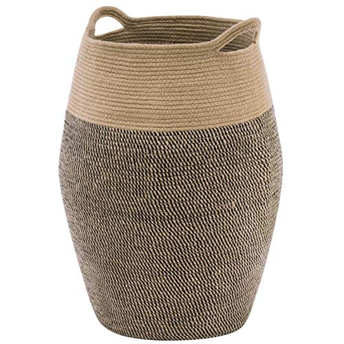YOUDENOVA Tall Laundry Hamper Woven Jute Rope Extra Large Laundry Basket 99L Modern Hamper for Laundry Closet Bedroom Bathroom and College Dorm