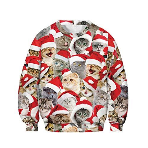 K-Youth para 7-14 Años Sudaderas Tumblr Adolescentes Chicas Chicos Sudadera Niña Navidad Invierno Chandal Niños Otoño Abrigo Niñas Deporte Tops Camiseta de Manga Larga Unisex (Multicolor, 13-14 años)