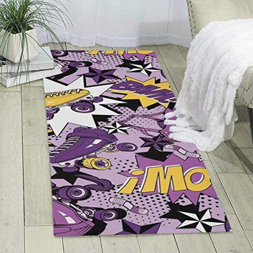Alfombra de patinaje con ruedas de 70 x 24 pulgadas, alfombra para niños