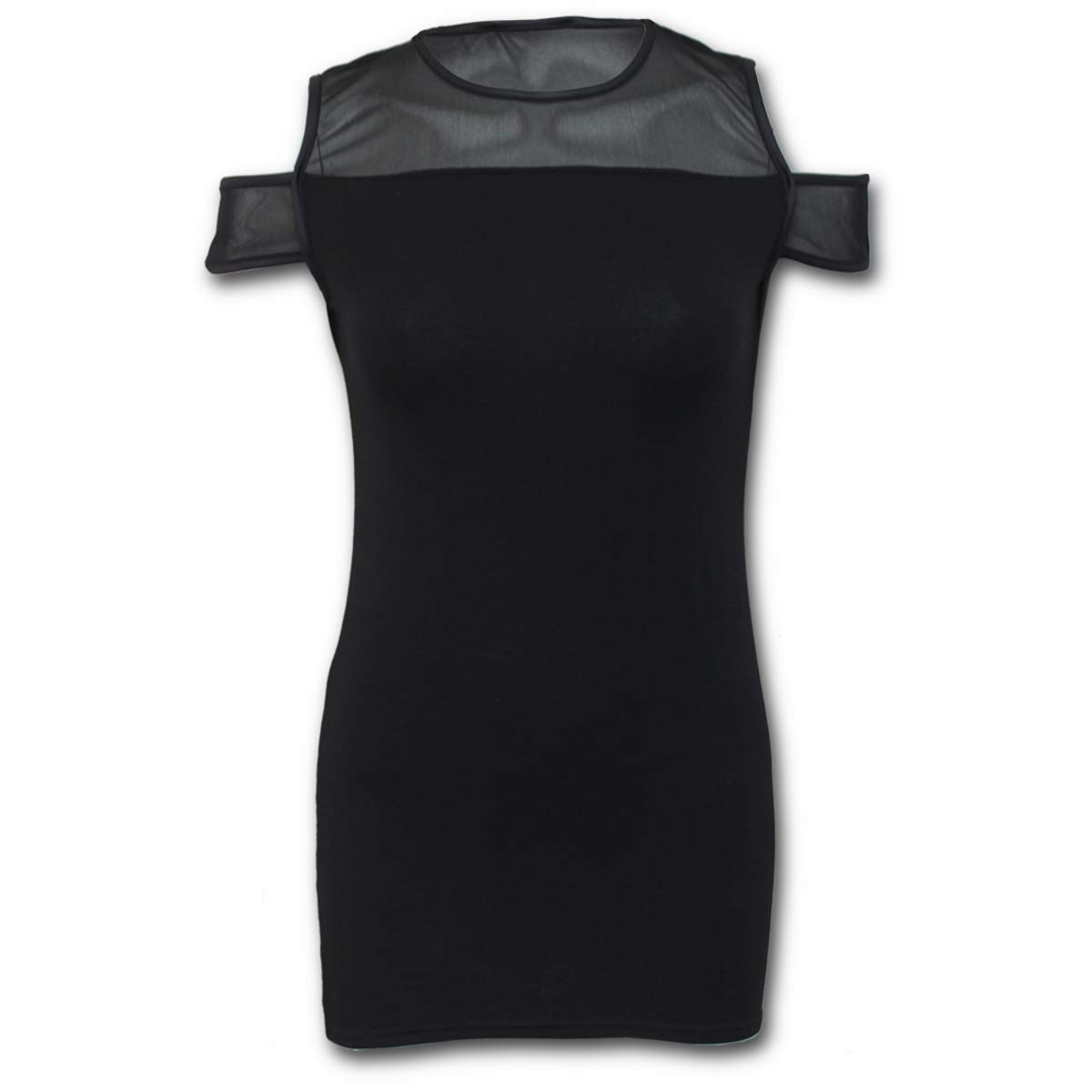 Available at Amazon: Spiral - Women's - Gothic Elegance - Drop Sleeve Piped Dress Black