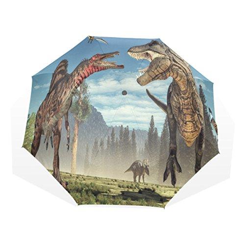 バララ(La Rose) 折り畳み傘 軽量 レディース 手動 かわいい 恐竜 動物柄 子供 日傘 晴雨兼用 折りたたみ 梅雨対策 頑丈な8本骨 三つ折り 遮光 耐風 撥水 丈夫 携帯用 収納ポーチ付き