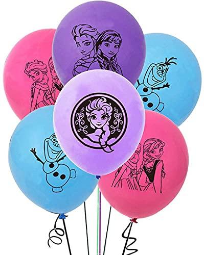 Globo Frozen, 20 piezas Copo de nieve Decoraciones para fiestas azul Papel de Decoracion Globos de látex para fiestas Globos de látex Fiesta Boda Fiesta de cumpleaños