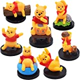 Mini Winnie The Pooh Figurines - MFHX Cute Mini Winnie The Pooh Cake Decoration, Winnie The Pooh Toy Micro Landscape Ornaments Office Home Decor Party Favors, 7 PCS