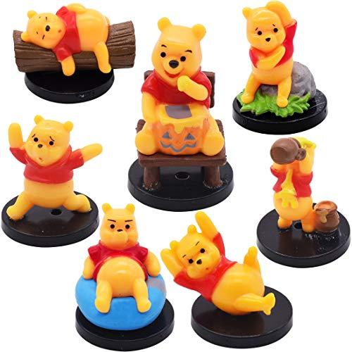 Mini Figurine - Miotlsy 7 Pièces Winnie the Pooh Gâteau Topper Mini Figurine Enfants Mini Jouets et Gâteau de Douche Fête d'anniversaire Winnie the Pooh Figure Jouets pour Enfants