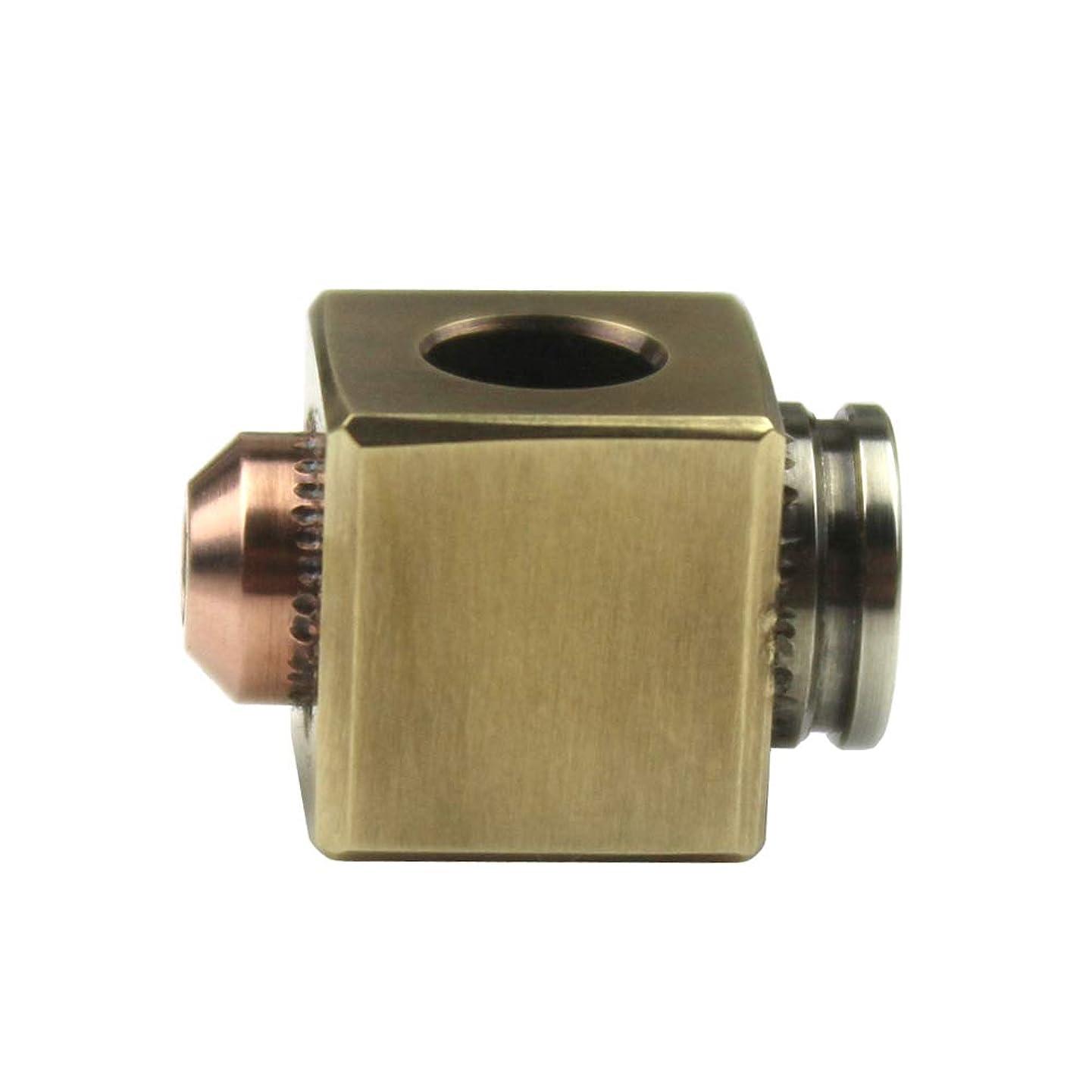 Square Cube Bullet Shape Brass Knife Lanyard Bead EDC Zipper Pull 550 Paracord Necklace Bead Pendant