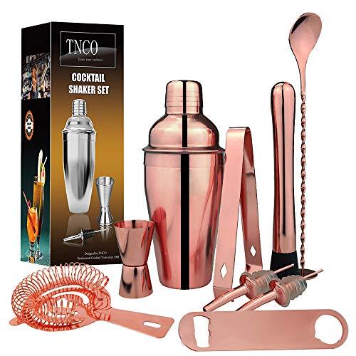 cocktail shaker,Edelstahl Chuck Cup Mixer, Rose Gold Bar Set Bar Set - 750ML