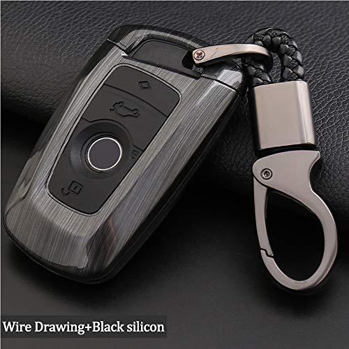 Funda para llave de coche con mando a distancia para BMW 3 4 5 6 7 Series X3 X4 E87 E90 E91 E92 E36 520 525 F30 F10 F18 118i 320i Coche 4 Botones Smart Key Remote Entrada sin llave (negro)