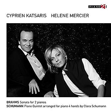 Brahms: Sonata for 2 Pianos - Schumann: Piano Quintet, Op. 44