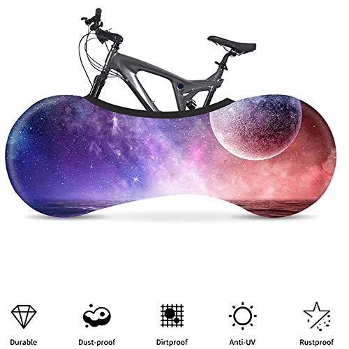 YYDM 3D Estrellado Cielo Cubierta Moto, Cubierta De Bicicleta Estática, Mantener La Habitación Ordenada, Resistente Al Agua, Al Polvo Y Protección UV, Que Se Utiliza para El 99% Bicicleta De Adulto,9