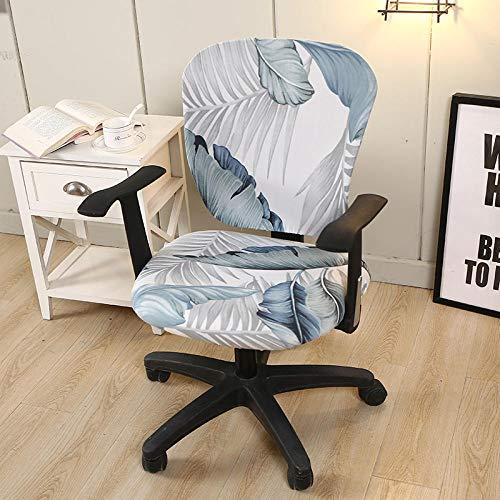 Anoauit draaibare afdekking voor bureaustoel, spandex, bedrukte stoelhoes, elastische stoelhoezen, afneembaar, silpcover decoratie voor thuis Los 45x45x45cm S