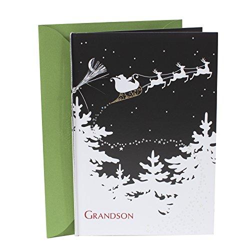 Hallmark Christmas Card for Grandson (Santa in Sleigh)