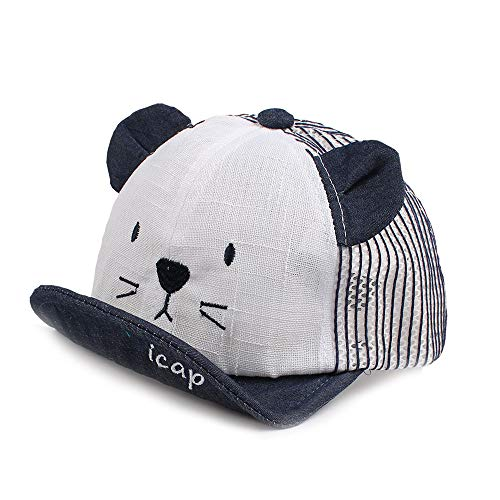 Pesaat - Gorra bordada de algodón para bebé de 6 a 24...