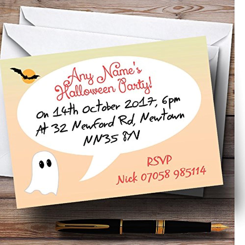 Ahorre hasta un 70% de descuento. Fantasma personalizado invitaciones para fiesta de de de Halloween  online barato