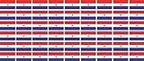 Mini Aufkleber Set - Pack glatt - 20x12mm - Sticker - Paraguay - Flagge - Banner - Standarte fürs Auto, Büro, zu Hause & die Schule - 54 Stück