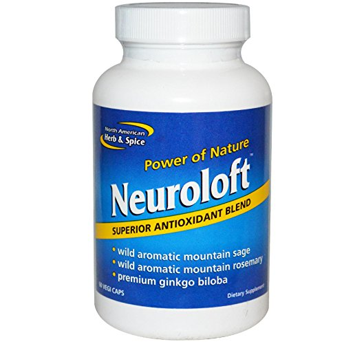 North American Herb and Spice, Neuroloft Capsules, 60-Count