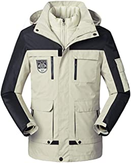 pipigo Mens Pure Color Winter Thickened Zip Up Hoodie Down Quilted Coat Jacket Outerwear