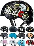 SkullCap Casco BMX - Casco Skate - Casco Bici, Talla: L (58 – 61 cm), Design: Crash-Test NextLevel