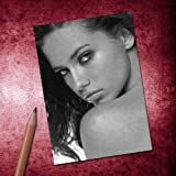 Seasons Adriana Lima - ACEO Sketch Card (Signed by The Artist) #js002