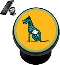 Universal Magnetic Phone Car Mount Holder Metal Luminous 360 Degree Rotation Car Dashboard, Car Phone Mount Luminous Magnetic Car Phone Holder Print Homework is Dog