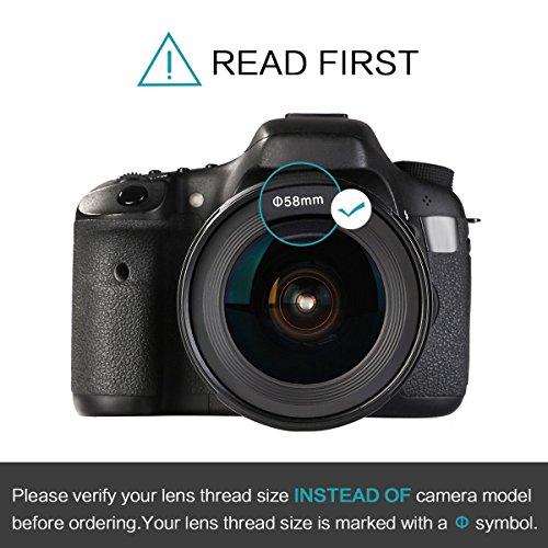 K&F Concept 58mm Objetivo para Cámara Réflex 0.45X Objetivo de ...
