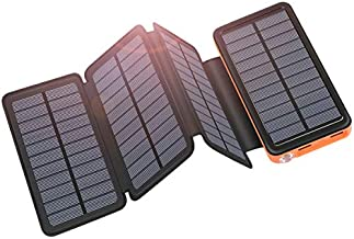 Solar Charger 25000mAh ADDTOP Portable Solar Power Bank with Type-C Input for Smart Phones, Tablets, Laptop and Outdoor Rainproof