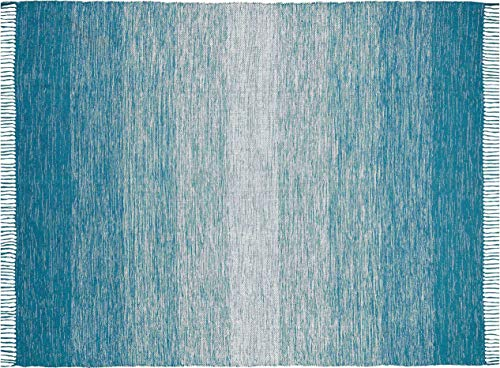 Chesapeake Merchandising Cotton Ombre Teal Area Rug Large (5'x7')