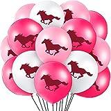 Gejoy 60 Pièces Ballons de Latex de Cheval Ballons de Cowgirl Balloon Décorations de Thème Cheval pour Faveurs de Fête Baby Shower Cow-Boy, 12 Pouces