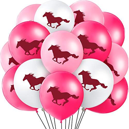 60 Stücke Latex Pferd Ballons Pferd Thema Luftballons Dekorationen für Baby Dusche Cowboy Party Gefallen, 12 Zoll