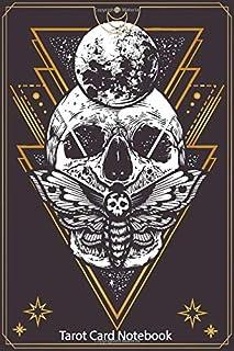 Tarot Card Notebook: Moon Tarot Journal, College Ruled Journal Diary Notebook, Skull Tarot Card Journal for Recording And ...