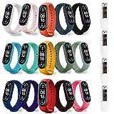 Timoom [19-Pièces] 15 Pièces Bracelet pour Xiaomi Mi Band 6/ Mi Band 5 + 4 Pièces TPU Protection...