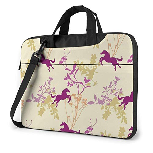 XCNGG Laptop Bag, Running Horse Business Briefcase Protective Bag Cover for Ultrabook, MacBook, Asus, Samsung, Sony, Notebook 15.6 inch
