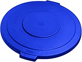 Carlisle (341011) - Plastic Round Lid for 10 gal Container-Bronco Lid-Blue
