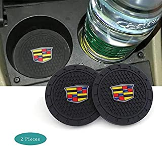 SHENGYAWAUTO Car Interior Accessories Cup Holder,Anti Slip Cup Mat Insert for Cadillac Escalade, CTS,SRX, BLS, ATS,STS, XTS, SXT,etc All Models 2 Packs,2.75 inch