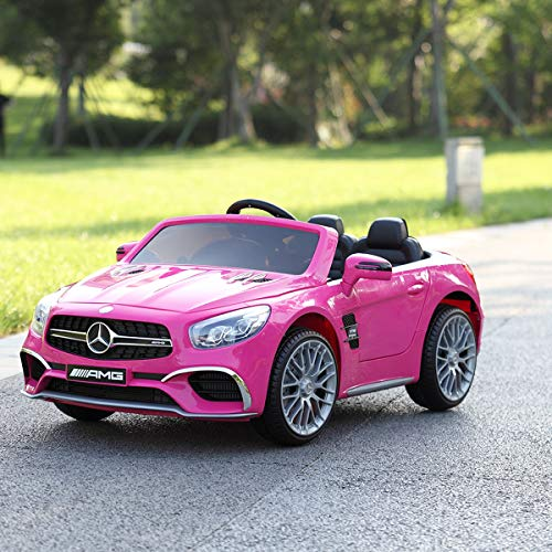 TOBBI Licensed Mercedes Benz 12V Kids Ride On Car with Remote Control MP3 Pink