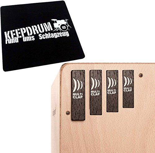 Schlagwerk MC40 Multiclap 4er Set Cajon Add On + keepdrum Sitzpad