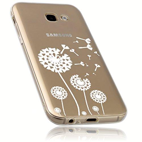 mumbi Funda Compatible con Samsung Galaxy A5 (2017) Caja del teléfono móvil Avec Motif Pissenlit, Transparente
